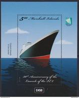 MARSHALL ISLANDS , 2017, MNH, SHIPS, CRUISESHIPS, QE2, S/SHEET - Barche