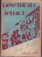 BREVE HISTORIA DEL MUNDO. H G WELLS. 339 PAG  CIRCA 1936. ED ERCILLA-BLEUP - History & Arts