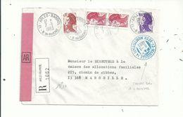 1 LR D'Arles Du 7/9/1983  Avec 4 LIBERTE Pour 18.10fr....CACHET D' Arrivée BLEU Au Recto..........à Voir - 1961-....