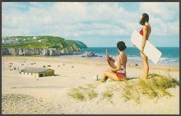 The Beach, Perranporth, Cornwall, 1980 - Constance Postcard - England