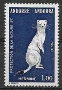1977 ANDORRE Français 260 ** Animal, Hermine - French Andorra