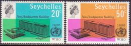SEYCHELLES 1966 SG #228-29 Compl.set MLH WHO Headquarters - Seychelles (...-1976)