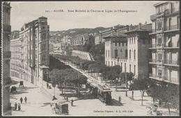 Rues Michelet Et Charras Et Ligue De L'Enseignement, Alger, Algerie, C.1910 - Régence CPA - Algiers