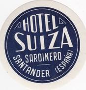 SPAIN ESPAÑA    -  HOTEL LUGAGGE  LABEL - HOTEL SUIZA - SANTANDER - Hotel Labels