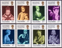 SEYCHELLES 1975 SG #342-49 Compl.set MLH Int. Women's Year - Seychelles (1976-...)