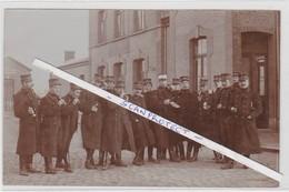 BALEN-STATION-GARE-FOTOKAART-MILITARIA-SOLDATEN-OFFICIEREN-1908-ATTAQUE COURSEL?-ZIE 2 SCANS-PRACHTIG DOCUMENT ! ! ! - Balen
