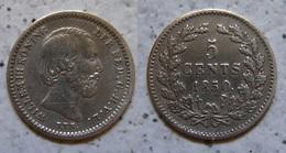 Niederlande König Willem III 1850 Silber Ag Vz Vorzüglich !    (R436) - [ 3] 1815-…: Königreich Der Niederlande