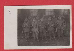 --  Carte Photo -soldats Allemands En Uniforme - War 1914-18