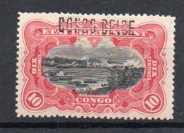 CONGO - MOLS - 10c Carmin COB 31B - Surch Bruxelles B6 - X - Certificat - RRR - VL06 - Congo Belge