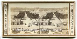 FOTOGRAFIA STEREOSCOPICA VILLA NAZIONALE NAPOLI SOMMER & BEHLES NAPOLI - Stereoscopi