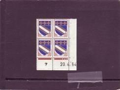 N° 1353 - 0,10F Blason De TROYES - C De C+D - 3° Tirage Du 25.3.64 Au 13.5.64 Au 20.04.1964 - - Crète