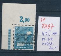 Zonen Nr. 43 I OR-Platte Ndgz  **   (se 7997  ) Siehe Bild - Bizone