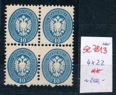Österreich -Levante Nr. 4x 22  **    (se 7813 ) Siehe Bild - Oriente Austriaco