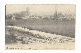 70 -  FOUGEROLLES - Vue Générale Prise De La Ligne D' Aillevillers. Carte Précurseur Adressée à Athesans - Autres Communes