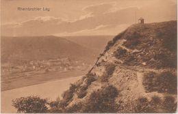 "11 014 Ansichtskarte Rheinbrohler Lay Bahnpost ""CÖLN(RHEIN)-COBLENZ"" 1918 - Usados"