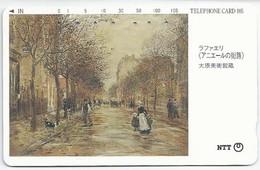 JP.- Japan, Telefoonkaart. Telecarte Japon. NTT. TELEPHONE CARD 105-351-191. 2 Scans - Japan