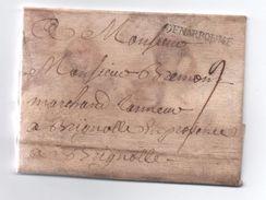 1747 - LETTRE De NARBONNE (AUDE) Avec MP LENAIN N° 2 Pour BRIGNOLES (VAR) - 1701-1800: Precursors XVIII