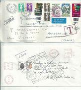 3 L.....à Voir...réexpédition De Courrier....taxes Annulées Pour Des  Raisons ...à Regarder.......... - 1961-....