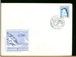 POLSKA - FDC 1991 - POLO SUD  - PINGUINO - Fauna Antartica