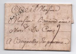"1749 - LETTRE De CASTRES (TARN) Avec MP LENAIN N°1a ""CASTRE"" Pour BRIGNOLES (VAR) - 1701-1800: Precursors XVIII"
