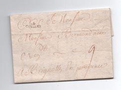 1751 - LETTRE De CASTRES (TARN) Avec MP LENAIN N°4 Pour BRIGNOLES (VAR) - 1701-1800: Precursors XVIII