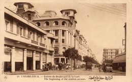 CPA CASABLANCA - ENTREE DU BOULEVARD DE LA GARE - Casablanca