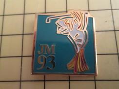 Pin1310 Pin's Pins : Rare Et Belle Qualité : SPORT / POISSONT JOUANT AU GOLF JEUX MEDITERRANEENS 1993 - Golf