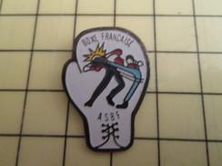 Pin1310 Pin's Pins : Rare Et Belle Qualité : SPORT / Pan Dans Ta Face ASBF GANT DE BOXE FRANCAISE - Boxing