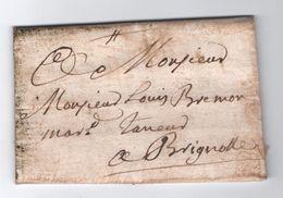 1749 - LETTRE De ROQUEBRUNE (ROQUEBRUNE SUR ARGENS ? VAR ?) Pour BRIGNOLES (VAR) - 1701-1800: Precursors XVIII
