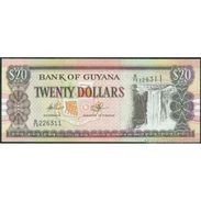 TWN - GUYANA 30e1 - 20 Dollars 2009 Prefix B/79 - Signatures: Williams & A. Singh UNC - Guyana