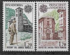 1979 ANDORRE Français 276-77 ** Europa, Facteur - French Andorra