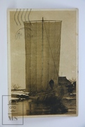 Old 1913 Japan Postcard - Fishing Boat On The River - Japón