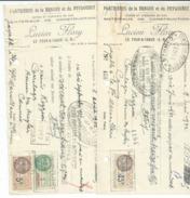 GRASSE 06 PLATRIERES De La BRAGUE Et Du PEYLOUBET ::LUCIEN FLORY/ LE FOUR A CHAUX 06 Avec Timbres Fiscaux N13 - France