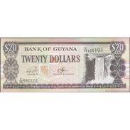 TWN - GUYANA 30f - 20 Dollars 2016 Prefix C/38 - Signatures: Ganga & A. Singh UNC - Guyana