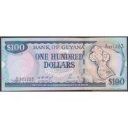 TWN - GUYANA 31c - 100 Dollars 2005 Prefix A/82 - Signatures: D. Singh & Kowlessar UNC - Guyana