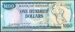 TWN - GUYANA 31c - 100 Dollars 2005 Prefix A/86 - Signatures: D. Singh & Kowlessar UNC - Guyana