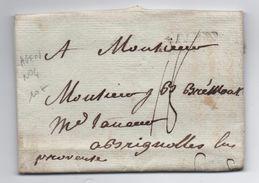 1783 - LETTRE De AGEN (LOT ET GARONNE) Avec MP LENAIN N° 4 Pour BRIGNOLES (VAR) - 1701-1800: Precursors XVIII