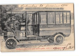 CPA 54 Luneville Omnibus De Dietrich - Luneville