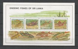 Sri Lanka 1990 Fish S/S Y.T. BF 41 ** - Sri Lanka (Ceylon) (1948-...)