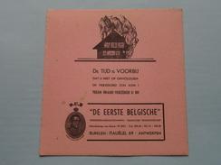 """"""" DE EERSTE BELGISCHE """" Verzekeringsmaatschappij D.E.B. ( Italiëlei ANTWERPEN - Details Zie Foto's ) 4 Stuks ! - Bank & Insurance"""