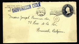 A5019) US Brief Von Wall Street St. N.Y. 04/25/10 Per Schiff Nach Bruxelles - Vereinigte Staaten