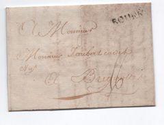 1776 - LETTRE De ROUEN (SEINE MARITIME) Avec MP LENAIN N° 12 Pour BRIGNOLES (VAR) - 1701-1800: Precursors XVIII