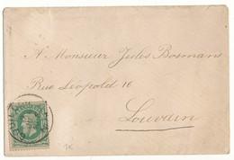 189? OMSLAG Met COB30 V. BOUILLON N. LOUVAIN ZIE SCAN(S) - AK [1871-09]