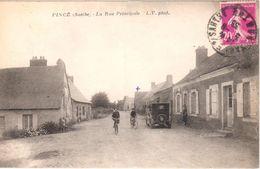 Pincé (Sarthe) La Rue Principale - France