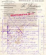 87- SAINT HILAIRE LES PLACES- RARE FACTURE H. RESTOUEIX-MODERN' GARAGE- AUTO MOTO VELO- MECANICIEN- 1930 - Cars