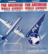 Dienstregeling Horaires  - Time Tables Pan American World Airways - 1947 - Europe