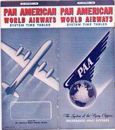 Dienstregeling Horaires Vliegtuigmaatschappij  - Time Tables Pan American World Airways - 1945 - Europe