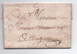 1776 - LETTRE De HYERES Pour BRIGNOLES (VAR) - 1701-1800: Voorlopers XVIII