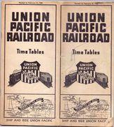 Dienstregeling Horaire Chemins De Fer - Time Tables Union Pacific Railroad - Railway Lines - USA 1938 - Europe