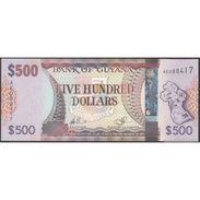 TWN - GUYANA 37 - 500 Dollars 2011 Prefix AE - Signatures: Williams & A. Singh UNC - Guyana